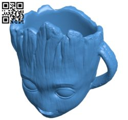 Groot cup B005545 download free stl files 3d model for 3d printer and CNC carving
