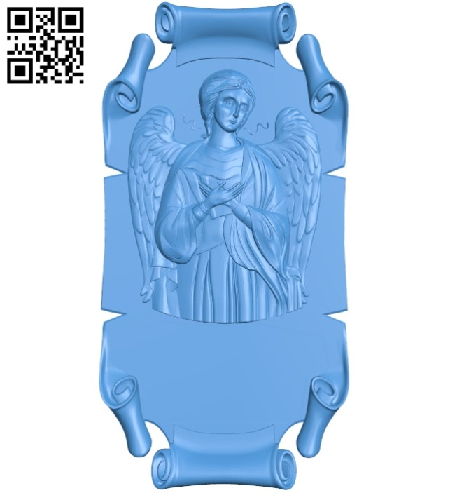 Guardian Angel Icon A003839 wood carving file stl free 3d model download for CNC