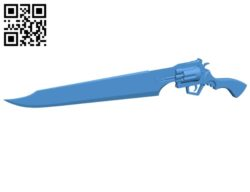 Guns and swords B005370 file stl free download 3D Model for CNC and 3d printer
