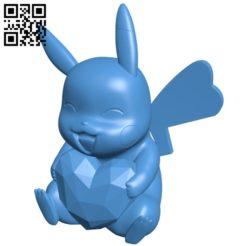 Happy Pikachu pokemon B005493 file stl free download 3D Model for CNC and 3d printer