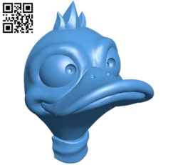 Head duck hanger B005337 file stl free download 3D Model for CNC and 3d printer