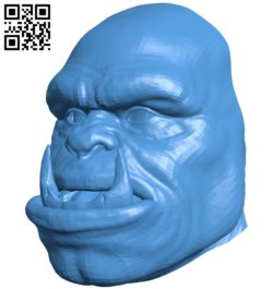 Head orc with teeth B005281 file stl free download 3D Model for CNC and 3d printer