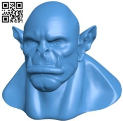 Head young orc B005464 file stl free download 3D Model for CNC and 3d printer