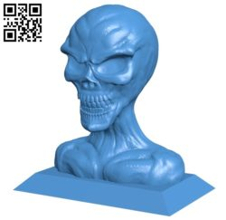 Head zombie B005338 file stl free download 3D Model for CNC and 3d printer