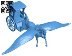 Horse-drawn carriage B005492 file stl free download 3D Model for CNC and 3d printer