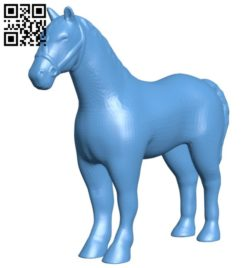 Horse figurine B005689 download free stl files 3d model for 3d printer and CNC carving