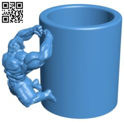 Hulk super cup B005577 download free stl files 3d model for 3d printer and CNC carving