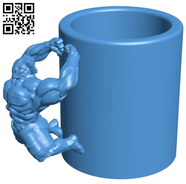 Hulk super cup B005577 download free stl files 3d model for 3d printer and CNC carving
