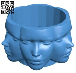 Human-shaped pots B005609 download free stl files 3d model for 3d printer and CNC carving
