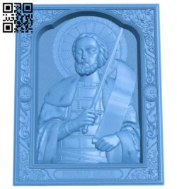Icon Alexander Nevsky A003845 wood carving file stl free 3d model download for CNC