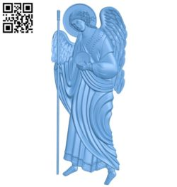 Icon Archangel Gabriel A004175 download free stl files 3d model for CNC wood carving