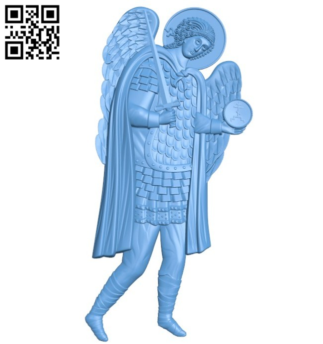 Icon Archangel Michael A004174 download free stl files 3d model for CNC wood carving