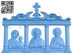 Icon Iconostasis A003852 wood carving file stl free 3d model download for CNC