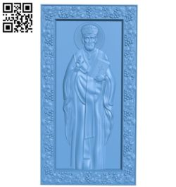Icon Nicholas the Wonderworker A004172 download free stl files 3d model for CNC wood carving