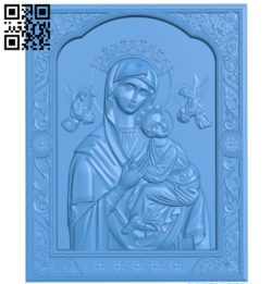 Icon 'Passionate' icon of the Mother of God A003832 wood carving file stl free 3d model download for CNC