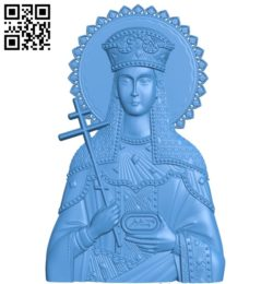 Icon Saint Equal A003849 wood carving file stl free 3d model download for CNC