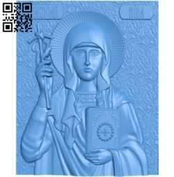 Icon Saint Nina A003836 wood carving file stl free 3d model download for CNC