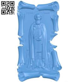 Icon Sergius of Radonezh A003838 wood carving file stl free 3d model download for CNC