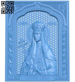 Icon Tsarevna Tatyana A003841 wood carving file stl free 3d model download for CNC