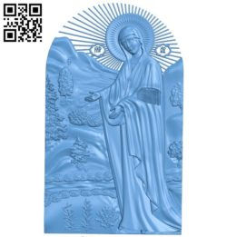 Icon icon of the Virgin A004182 download free stl files 3d model for CNC wood carving