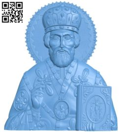 Icon of Nicholas the Wonderworker A004169 download free stl files 3d model for CNC wood carving