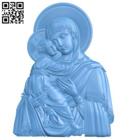 Icon of Our Lady of Vladimir A004171 download free stl files 3d model for CNC wood carving