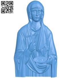 Icon of Praskeva Serbian – Sveta Petka A003844 wood carving file stl free 3d model download for CNC