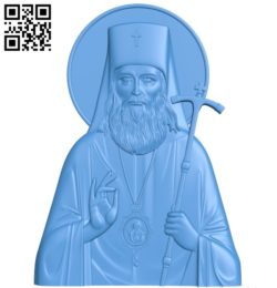 Icon of Saint Luke A003834 wood carving file stl free 3d model download for CNC