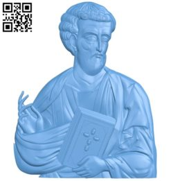 Icon of Saint Luke A004177 download free stl files 3d model for CNC wood carving