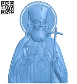 Icon of Saint Luke Simferopol A004178 download free stl files 3d model for CNC wood carving