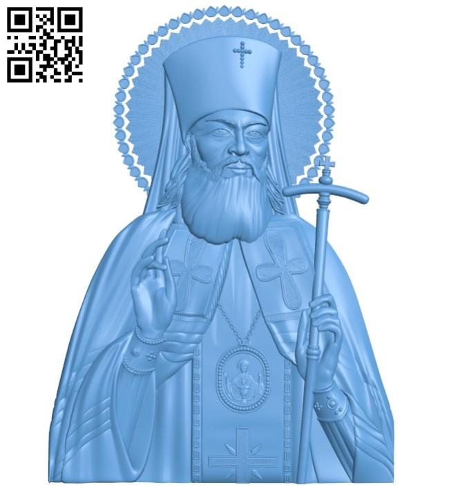 Icon of Saint Luke Simferopol A004178 download free stl files 3d model for CNC wood carving
