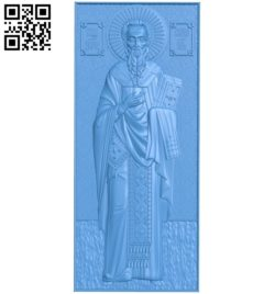 Icon of Saint Simeon A003847 wood carving file stl free 3d model download for CNC