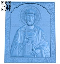 Icon of Saint Vladimir A003831 wood carving file stl free 3d model download for CNC