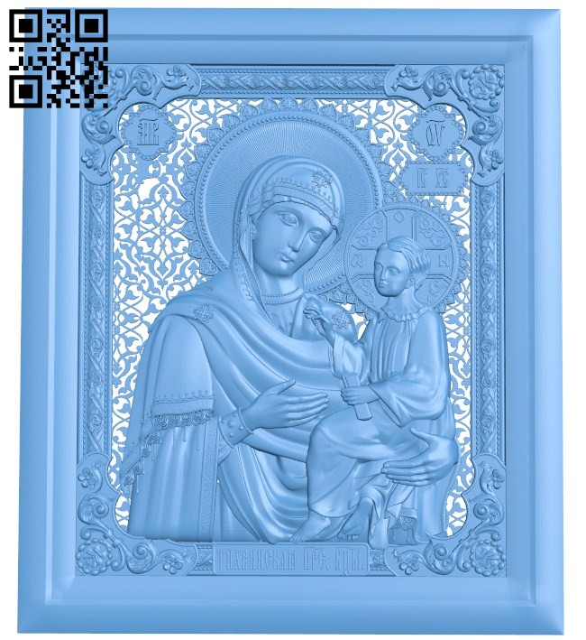 Icon of Tikhvin A004168 download free stl files 3d model for CNC wood carving