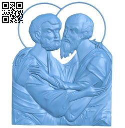 Icon of the Holy Apostles Peter and Paul A004181 download free stl files 3d model for CNC wood carving