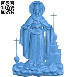 Icon of the Intercession A003846 wood carving file stl free 3d model download for CNC