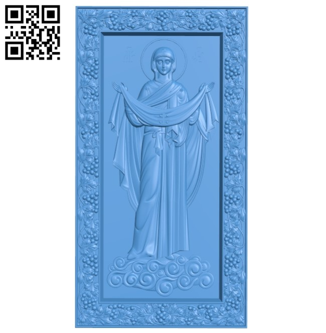 Icon of the Intercession A004011 wood carving file stl free 3d model download for CNC