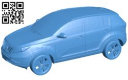 Kia Sportage car B005600 download free stl files 3d model for 3d printer and CNC carving