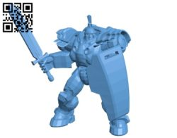 Knight in armor warrior B005745 download free stl files 3d model for 3d printer and CNC carving