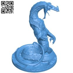 Lindwyrm land dragon B005562 download free stl files 3d model for 3d printer and CNC carving