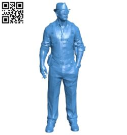 Man agent B005427 file stl free download 3D Model for CNC and 3d printer