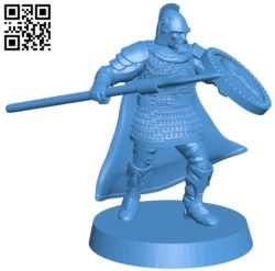 Man – middle age warrior B005528 free download stl file 3D Model for CNC and 3d printer