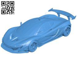 McLaren P1 Car B005330 file stl free download 3D Model for CNC and 3d printer