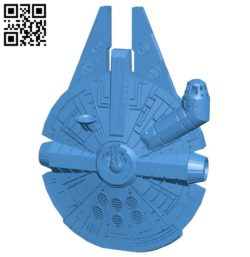 Millennium falcon ship B005578 download free stl files 3d model for 3d printer and CNC carving