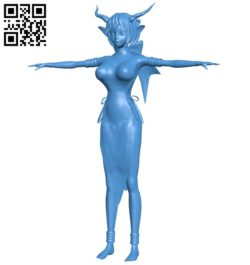Miss Anime demoness B005332 file stl free download 3D Model for CNC and 3d printer