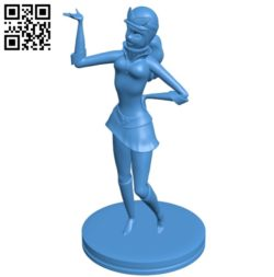 Miss Penelope pitstop B005282 file stl free download 3D Model for CNC and 3d printer