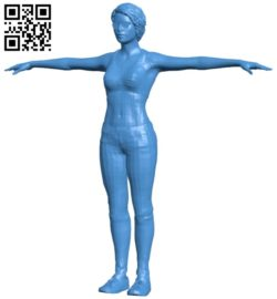 Miss Punk style B005311 file stl free download 3D Model for CNC and 3d printer