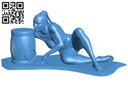 Miss Savage dance B005274 file stl free download 3D Model for CNC and 3d printer