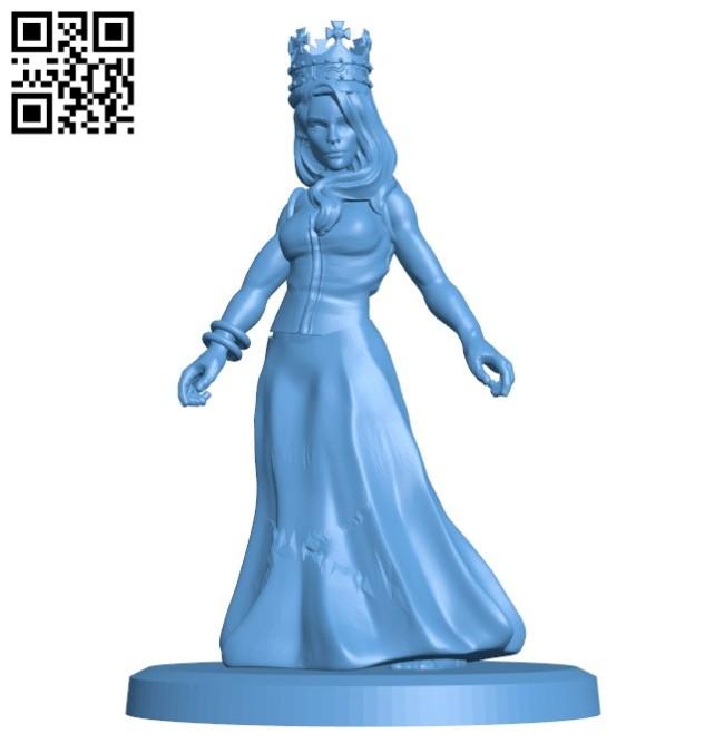 Miss princess B005739 download free stl files 3d model for 3d printer and CNC carving
