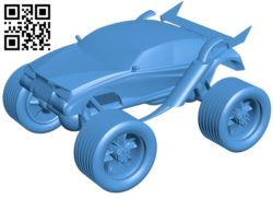 Monster – car B005594 download free stl files 3d model for 3d printer and CNC carving